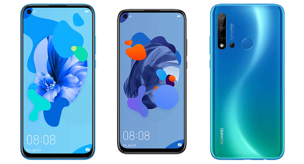 This would be the Huawei P20 Lite 2019: the front-facing camera integrated in the screen and the back, quad