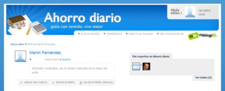 Página de usuario