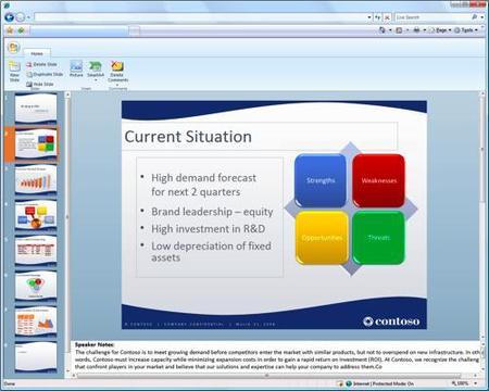 Aplicaciones web de Office de pago para las empresas