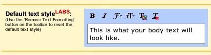 Escoge un estilo de letra por defecto en Gmail