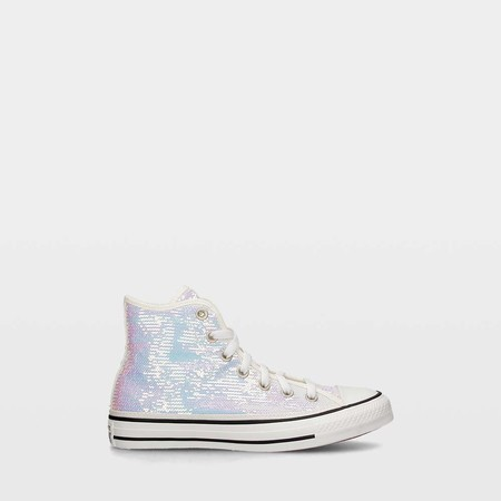 Zapatillas Converse Mini Sequins Chuck Taylor All Star Low High Silver Vintage 7684303 1