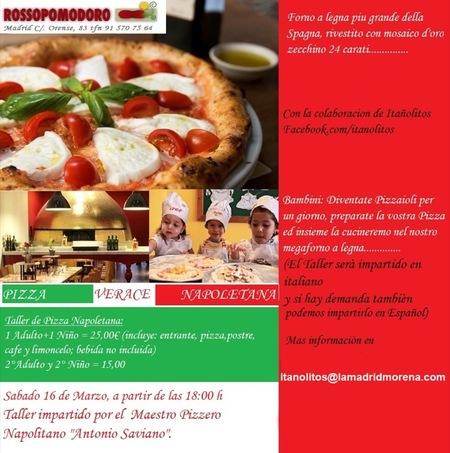 Con La Madrid Morena puedes hacer que tus peques se conviertan en pizzeros por un día mientras aprenden italiano