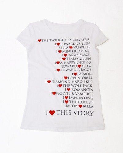 Bershka lanza una colección de camisetas inspiradas en Eclipse: la horterada insuperable. Blanca