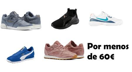 48 zapatillas Nike, Reebok, Puma y Adidas por menos de 60 euros