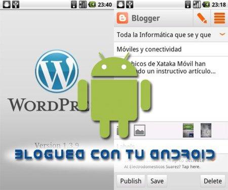 Aplicación oficial de Blogger para Android, la comparamos con Wordpress