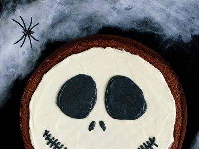 Tarta de chocolate Jack Skellington. Receta de Halloween