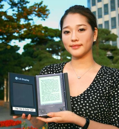 Lector de libros electrónicos solar de LG