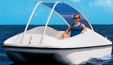 Barco movido por energía solar
