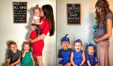 Las tiernas y divertidas fotografías que se hace una madre en su cuarto embarazo
