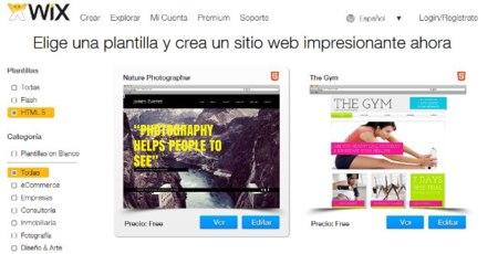 Wix facilita la creación de páginas con HTML5