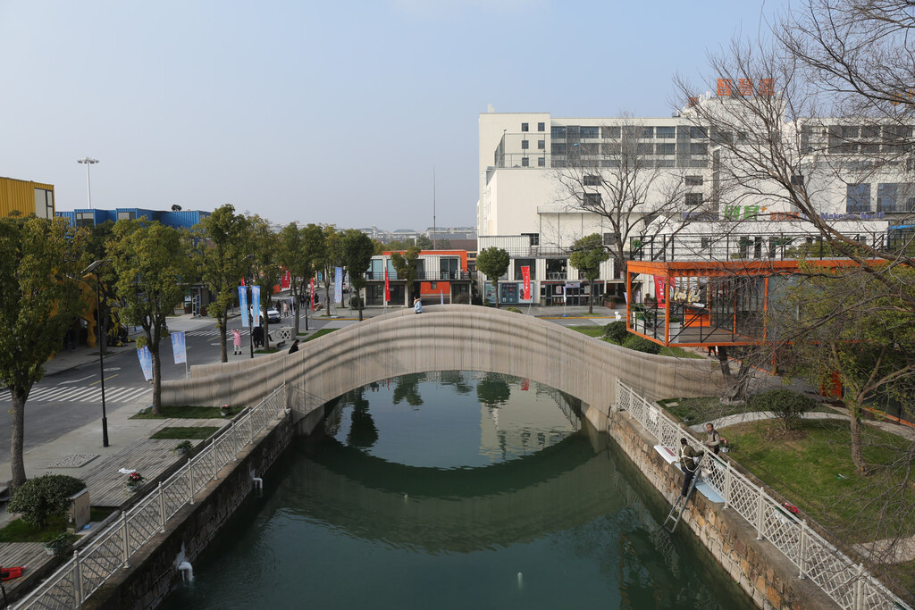 El puente impreso en 3D más largo del mundo está en China y es capaz de aguantar hasta 600 peatones