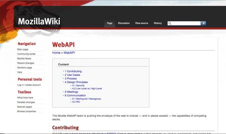 WebAPI, el proyecto de Mozilla para estandarizar el desarrollo de aplicaciones web móviles con HTML5