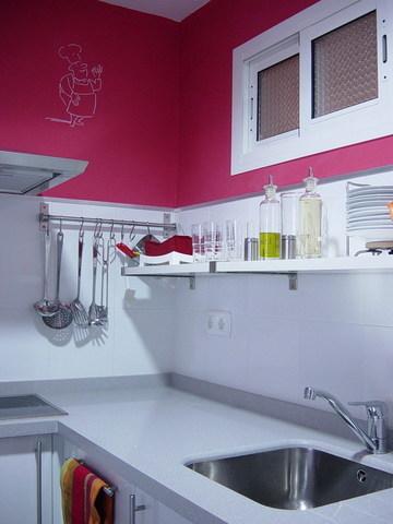 Pintar la cocina en fucsia