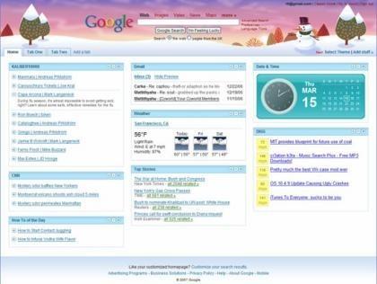 Página de inicio de Google personalizada