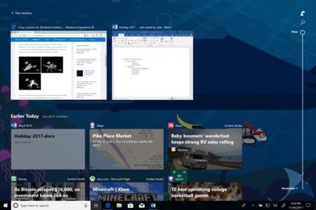 ¿Esperando Timeline en Windows 10? Los usuarios del Anillo Rápido en el Programa Insider ya pueden probarla