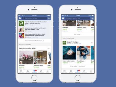 Facebook prueba los feeds de noticias en sus apps móvil incluyendo una tienda: ¿será amenaza a las apps de compras?