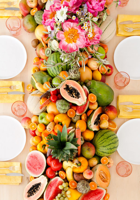 Edible Fruit Vegetable Table Runner Diy 2