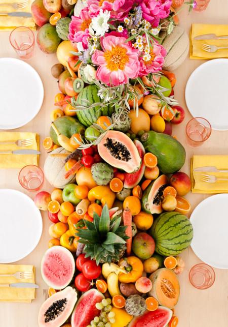 Edible Fruit Vegetable Table Runner Diy 2