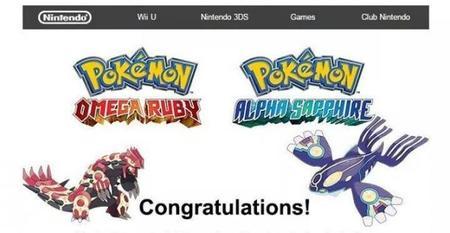 Nintendo distribuye códigos para el demo de Pokémon Omega Ruby y Alpha Sapphire