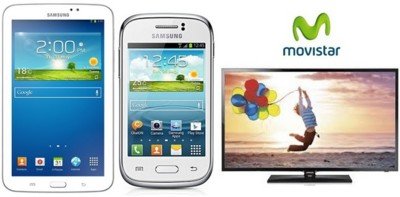 Movistar lanza nuevos packs Samsung de smartphone + tablet + Smart TV