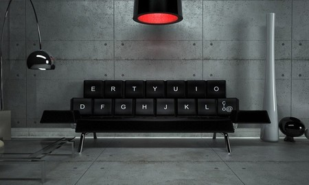 Qwerty, un teclado gigante convertido en un sofá