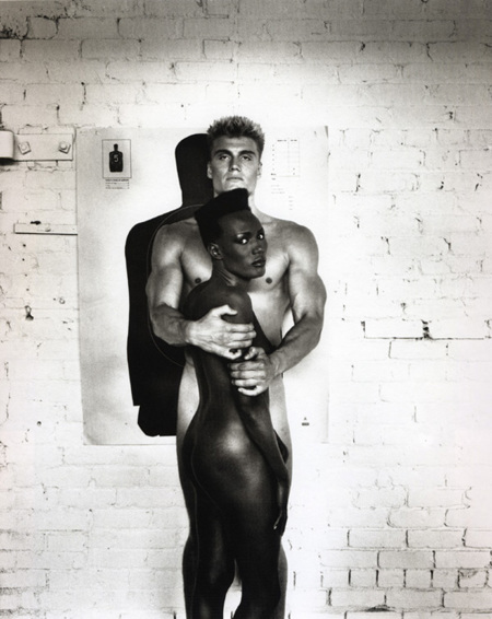 Grace Jones y Dolph Lundgren, 1985.