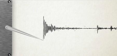 Seismograp Detecter Lies Line Machine Paper Quake Seismograph Seismometer Shake Technical Unstability Presentation Template