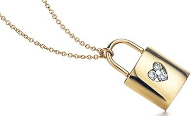 Colgante de oro y diamantes de Tiffany