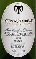 """Louis Métaireau Muscadet Sèvre et Maine sur lie """"Grand Mouton"""" 2004"""