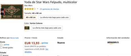 Screenshot 2018 3 18 Amazon Es Opciones De Compra Yoda De Star Wars Felpudo Multicolor