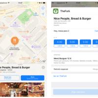 ElTenedor se integra y apuesta por los mapas de Apple en once países