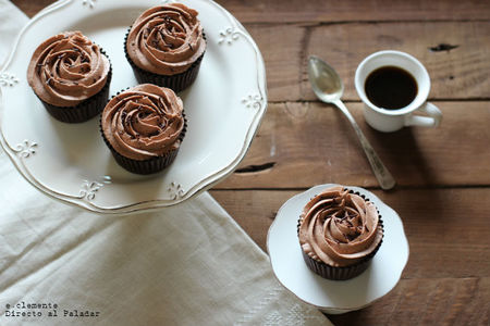 Cupcakes de chocolate y moka