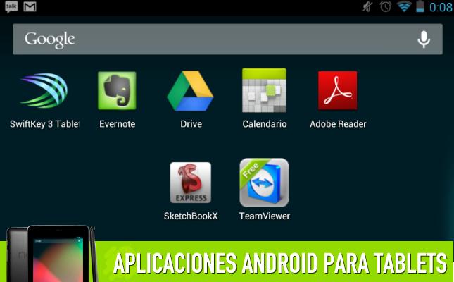 Aplicaciones productividad tablets