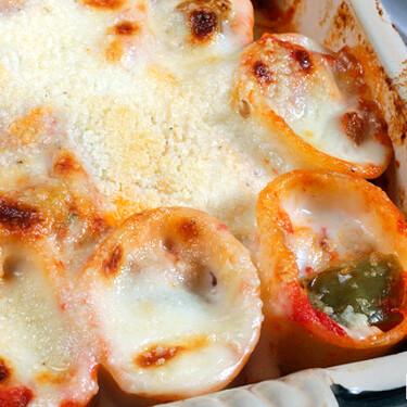 Canelones de pisto de verduras: receta vegetariana para disfrutar de un gratinado de pasta original facilísimo