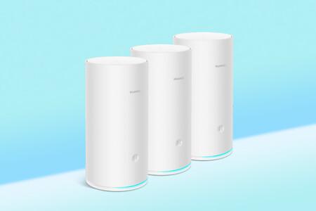 Hasta 600m² de cobertura con los tres routers Huawei Wi-Fi mesh de triple banda: por 229 euros de oferta de lanzamiento en su web
