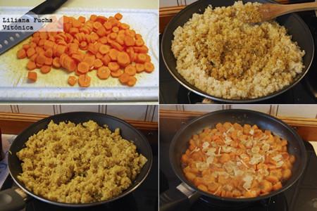 Quinoa Zanahorias Pasos