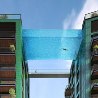 Una piscina colgada de dos edificios en pleno Londres