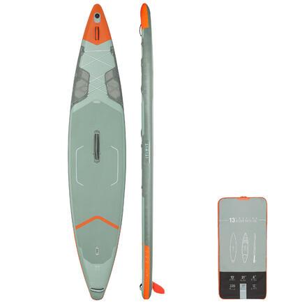 """TABLA DE PADDLE SURF HINCHABLE DE TRAVESÍA X500 ITIWIT 13""""-31' VERDE"""