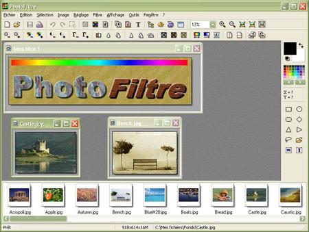 PhotoFiltre, software gratuito y ligero para la edición de fotos