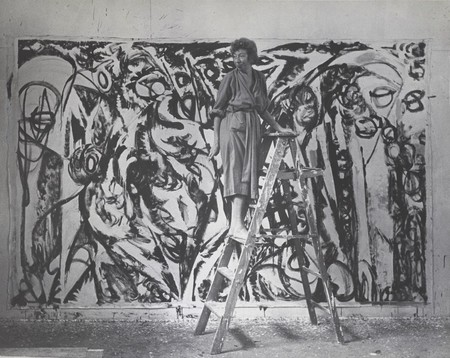 Lee Krasner en el estudio