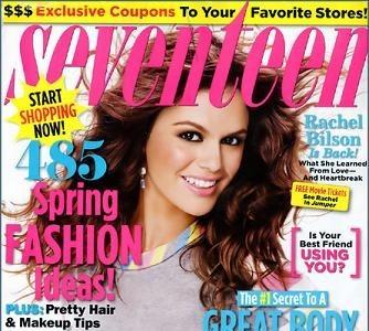Rachel Bilson en la revista Seventeen
