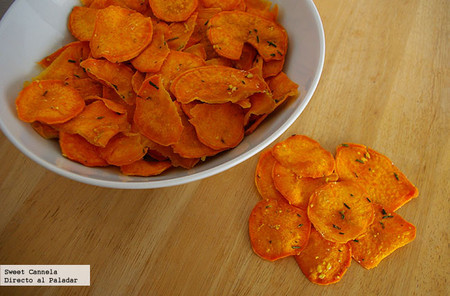 Chips de camote. Receta