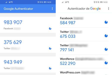 Google Authenticator se renueva con Material Theming y te permite exportar e importar tus cuentas
