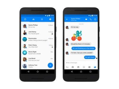 Facebook Messenger por fin se viste de Material Design