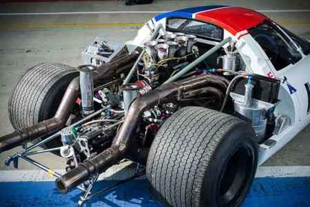 Lola T70 MKIII B de 1969 Vista motor
