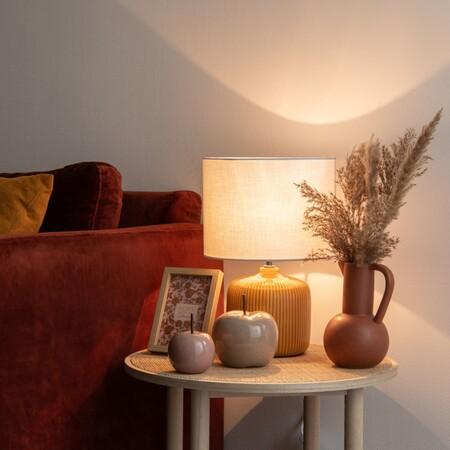 Lampara De Ceramica Amarilla Con Pantalla Color Crudo 1000 0 0 207706 2