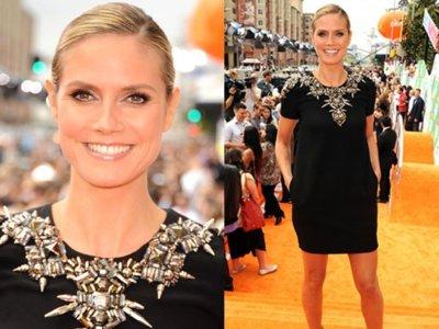 Celebrities sobre alfombra naranja en los Kids Choice Awards