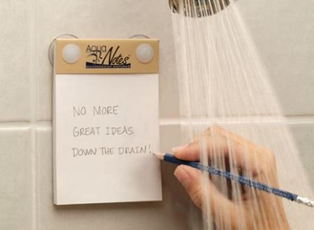 AquaNotes, anotaciones bajo la ducha