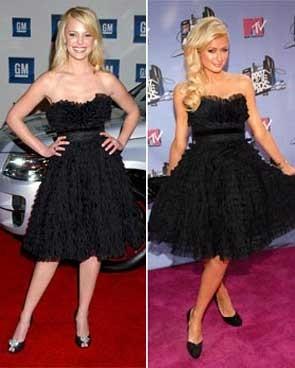 Vestido de Anna Sui: ¿Katherine Heigl o Paris Hilton?