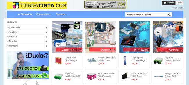 TiendaTinta.com es otro negocio online(enlinea) de Castelserás